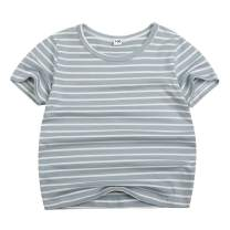 Sooxiwood Little Boys T-Shirt Striped Summer O-Neck