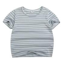 Sooxiwood Little Boys T-Shirt Striped Summer O-Neck
