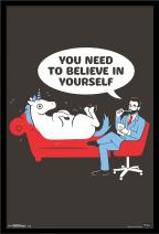 Trends International Wall Poster Snorg Tees Unicorn, 22.375 x 34