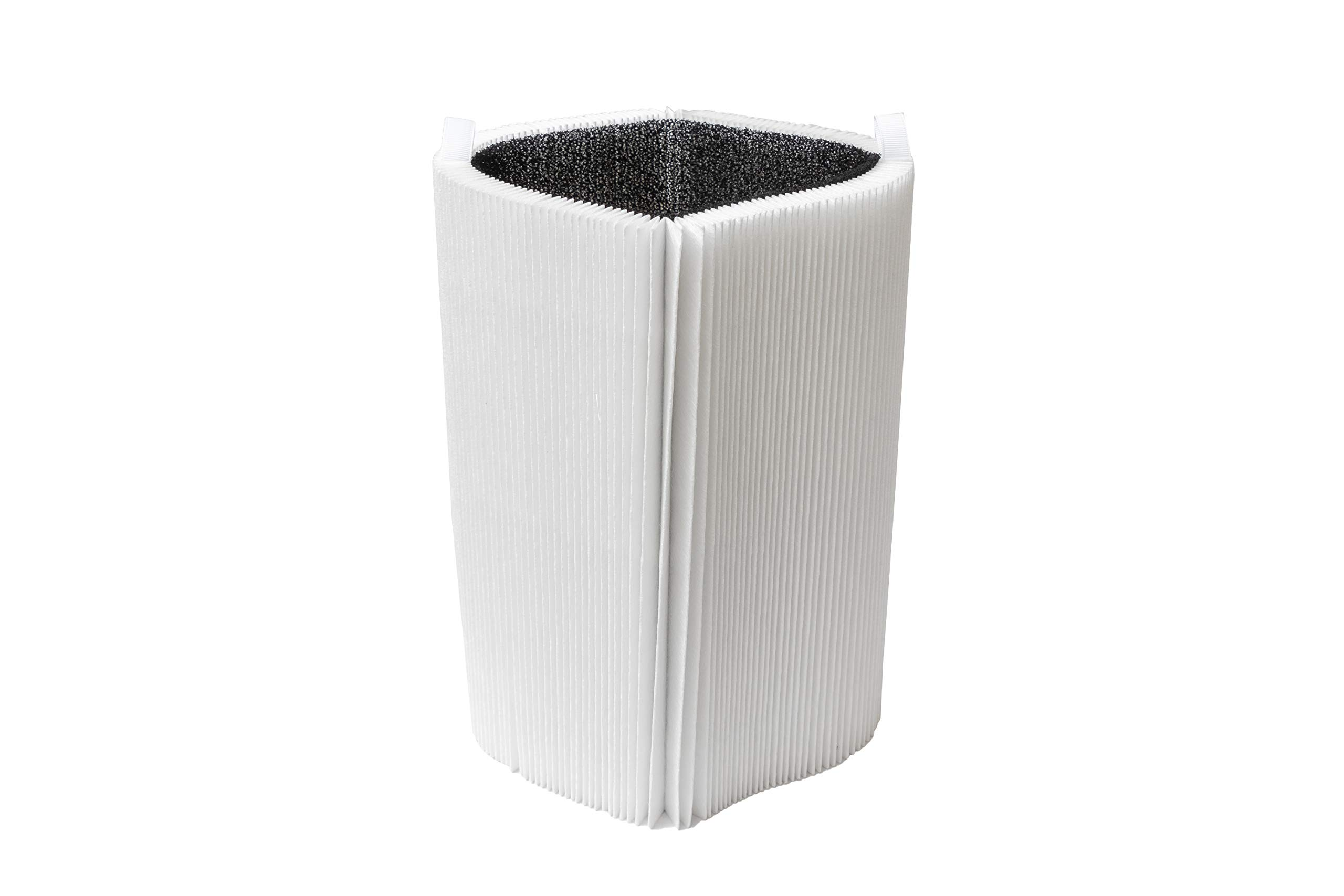 LifeSupplyUSA Replacement Collapsible Particle Carbon Filter Compatible with Blueair Blue Pure 411 Air Cleaner Purifier