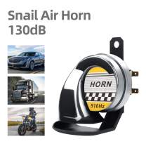 Snail Air Horn Siren High Tone 510HZ Waterproof 130DB Electric Horn 12V Universal for Motorcycle Auto Car Scooter(Chrome)