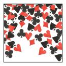 """Beistle SCN313AZ6, 6 Packages Card""""Suit"""" Confetti, 0.5 Ounces in Package, Total of 3 Ounces Confetti (Black/Red)"""