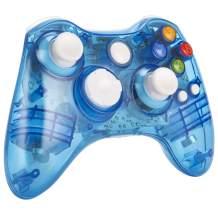Wireless Controller for Xbox 360, kosiwun Dual Vibration Game Controller Remote Gamepad Joystick for Xbox 360/PC Windows 10 8 7 Blue