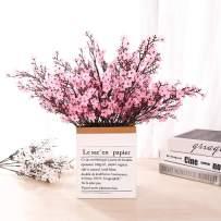 LUSHIDI 6PCS Artificial Baby Breath Flowers Fake Silk Real Touch DIY Floral Bouquets Decor Wedding Party Decoration Arrangements(Pink)