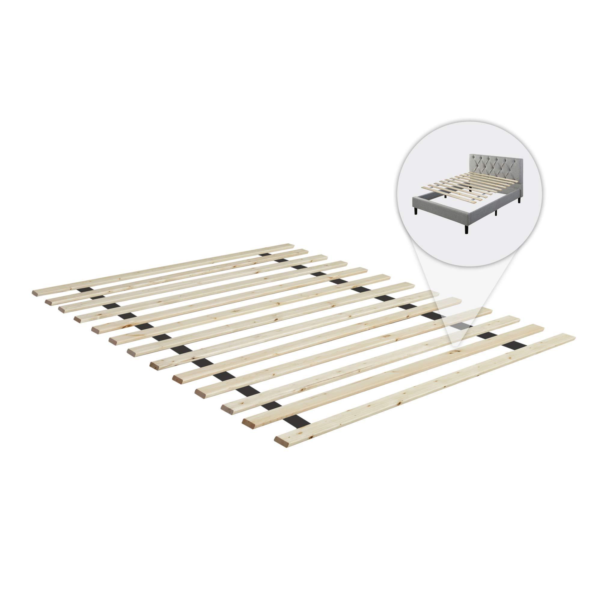 Continental Matress 1.5-Inch Standard Mattress Support Wooden Bunkie Board/Slats, Twin, Beige