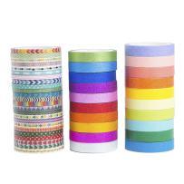 44 Rolls Rainbow Candy Color Skinny Slim Washi Tape Set,Planner DIY Scrapbooking Tape