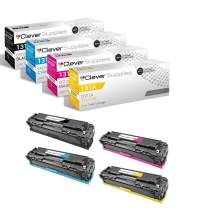 CS Compatible Toner Cartridge Replacement for HP M276NW CF2110 Black CF211A Cyan CF212A Yellow CF213A Magenta HP 131A Color Laserjet Pro 200 M251NW M276NW Printer M251NW M276NW 4 Color Set