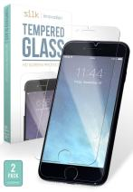 Smartish iPhone X Glass Screen Protectors – Clear Tempered Glass 2-Pack (Silk) [9H Scratch Resistant Anti Shock Screen Guards]