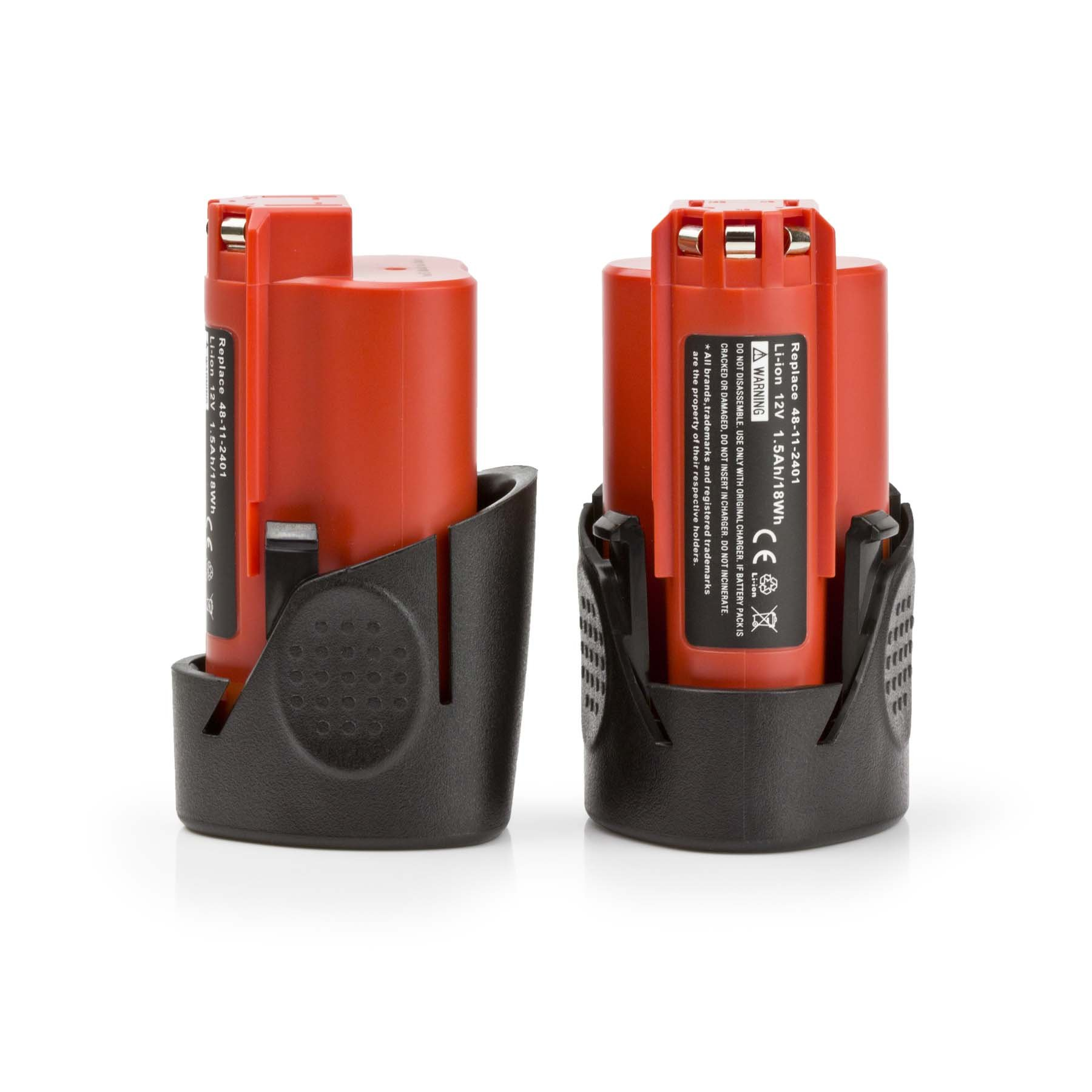 2 Pack ExpertPower 12-volt Lithium Battery for Milwaukee M12, 48-11-2401, 48-11-2402, 48-11-2420, 48-11-2430, 48-11-2440, 48-11-2460, 48-11-2411, 48-11-2412