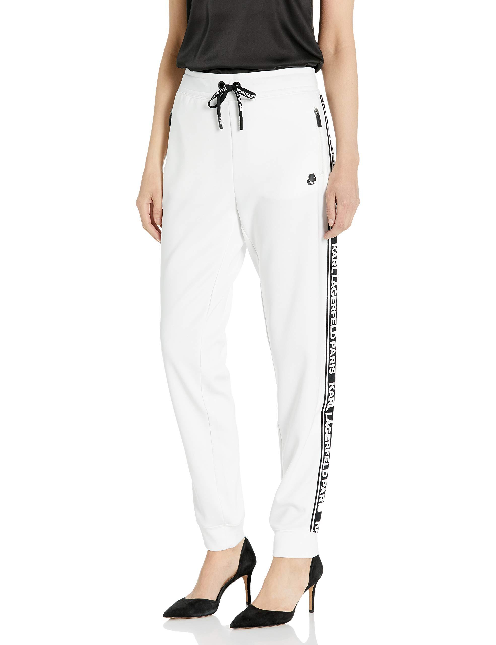 Karl Lagerfeld Paris Women's Logo Taping Jogger Pant