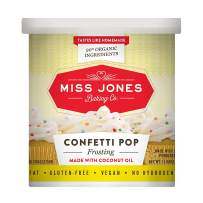 Miss Jones Baking 90% Organic Birthday Buttercream Frosting, Perfect for Icing and Decorating, Vegan-Friendly: Confetti Pop (Pack of 6)