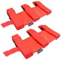 VXAR Fire Extinguisher Holder for Auto Car UTV(ABS Red 2pcs)
