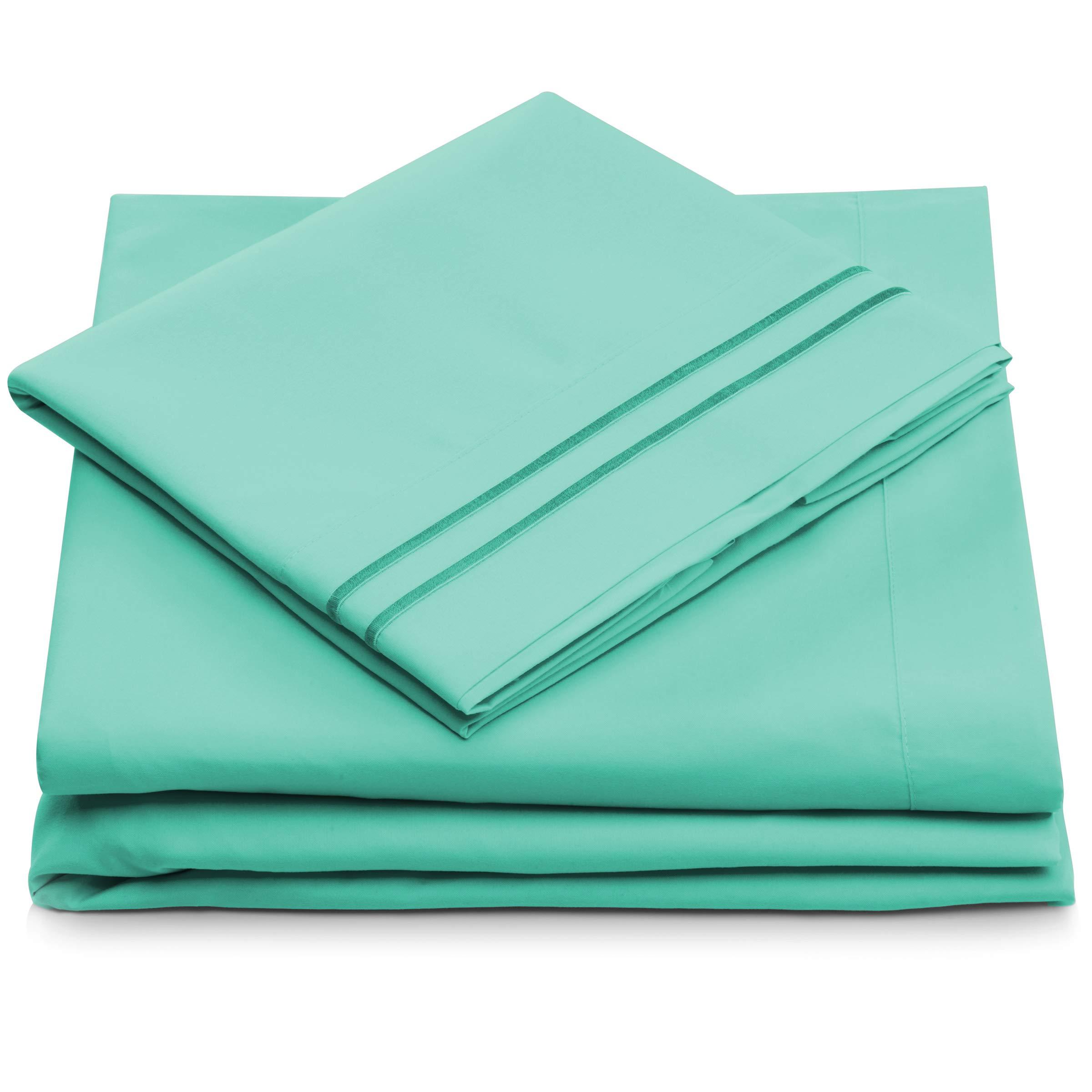 King Size Sheet Set - Pastel Green King Bed Sheets - Deep Pocket - Super Soft Hotel Bedding - Hypoallergenic - Cool & Wrinkle Resistant - Mint Green Bedsheets - 4 Piece (King, Pastel Green)