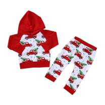 Baby Outfits Boy Girl Hoodie Tops Car Christmas Trees Pants Set Clothes Costumes
