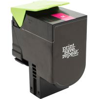 Print.Save.Repeat. Lexmark 71B10M0 Magenta Remanufactured Toner Cartridge for CS317, CS417, CS517, CX317, CX417, CX517 [2,300 Pages]