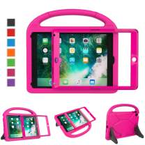 """LTROP New iPad 9.7 2018/2017 Kids Case - Light Weight Shock Proof Handle Stand Kids Case with Built in Screen Protector for iPad 9.7-inch 2018 Latest Gen/iPad 5/ Air 2/ Air/Pro 9.7"""" -Rose"""