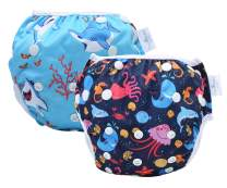storeofbaby Water Diapers 0-3 Years Premium Swim Nappy for 0-36lbs Baby Boys Girls