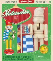 MasterPieces 21427 Works of Ahhh Christmas Real Wood Large Acrylic Paint Kits, Nutcracker Elf, Mom's Choice Award, For Ages 4+