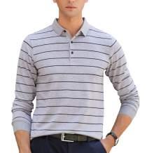 XTAPAN Men's Polo Shirt Casual Long Short Sleeve Classic Fashion Polo Cotton T Golf Sport Shirt