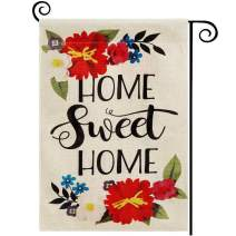 DOLOPL Home Sweet Home House Flag 28x40 Inch Double Sided Decorative Verticle Flowers Farmhouse Yard House Flag for Spring Summer Outdoor Indoor Decoration