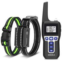 DOGOLA Training Collar Dog Training Collar with Remote, 1100 Yard Range,Rechargeable Shock Collar IPX7 Waterproof Barking Control Collar w/3 Training Modes, for Small Medium Large Dogs