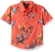 Volcom Little Boy's Verano Button Up Short Sleeve Shirt