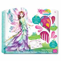 Style Me Up - Creative Craft Kit - Set of Watercolor Paints, Pencils, Brushes and Coloring Book for Girls - SMU-1301