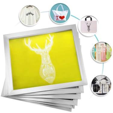 VEVOR Screen Printing Frame 12 Pieces Aluminum 8x10 Inch Silk Screen Printing Frame with White 110 Count Mesh Screen Print Screen Frame