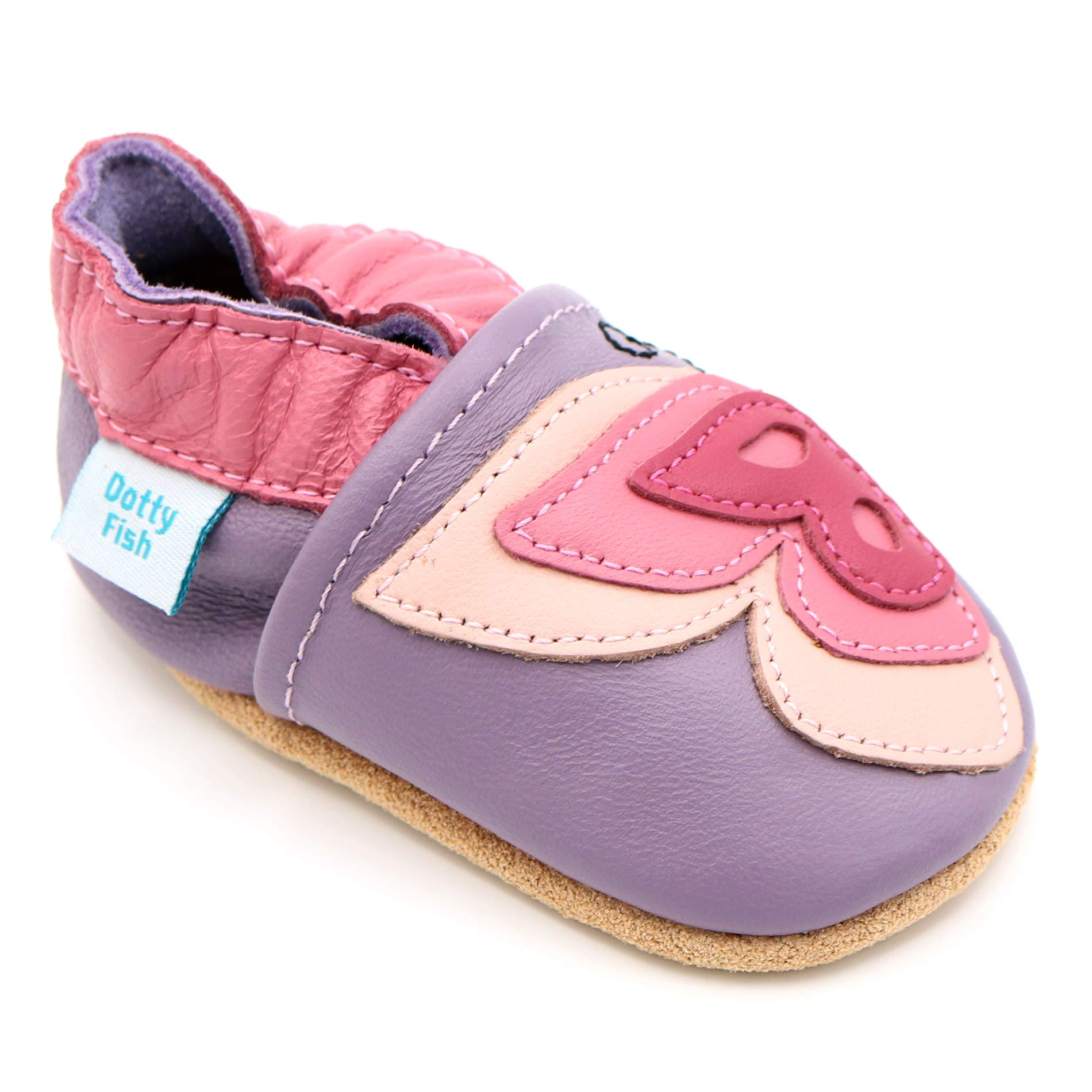 Dotty Fish Baby Toddler Infant Leather Crawling First Walking Shoes 0-6m-4-5yrs