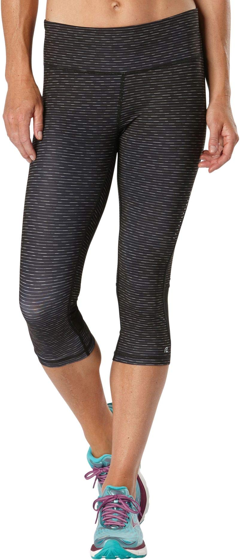 R-Gear Women's 18-inch Compression Capri Tights with Pockets for Gym, Yoga, Fitness, Training, Lounge   Recharge