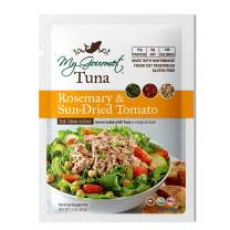 My Gourmet Products, Rosemary & Sun-Dried Tomato Tuna Salad, Select Flaked Light Tuna with Fresh-Cut Veggies & Mayo, Easy-Open Pouch, Great for Meals & Snacks, 3 oz (pack of 12)