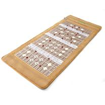 """UTK Photon Heating Mat, Far Infrared Heating Pad for Pain Relief, Amethyst Therapy Pad,19 Natural Jade Stones, 14 Tourmaline Stones,24 Photon Red Light, Memory Function, Auto Shut Off (Size:73""""x32"""")"""
