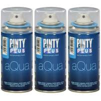 Spray Paint for Art & Crafts, Water Based Pintyplus Aqua Mini - (True Blue), 3 x 150 mL Cans