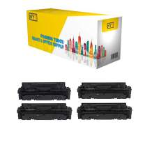 NYT Compatible NO CHIP Toner Cartridge Replacement for HP W2020A W2021A W2022A W2023A (HP 414A) for HP Color Laserjet Pro MFP M479fdw, M479fdn, M454dw, M454 (Black, Cyan, Magenta, Yellow, 4-Pack)