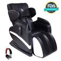 Mecor Massage Chair Full Body, Zero Gravity Heated Recliner with Stretched Foot Rest,Airbag/Rolling Massage System,Music Function,Black