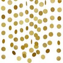 4Pcs Gold Glittery Circle Dots Garland Sign,Wedding Bachelorette Halloween Birthday Engagement Party Decoration Supplies