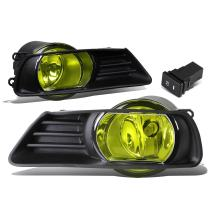 Replacement for Camry XV40 Pair of Bumper Driving Fog Lights w/Bezel & Switch (Amber Lens)