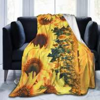 KING DARE Sunset Sunflower Sofa Blanket, Travel Blanket, Soft and Comfortable Keep Warm Throw Blanket for Baby/Kids/Youth/Adult
