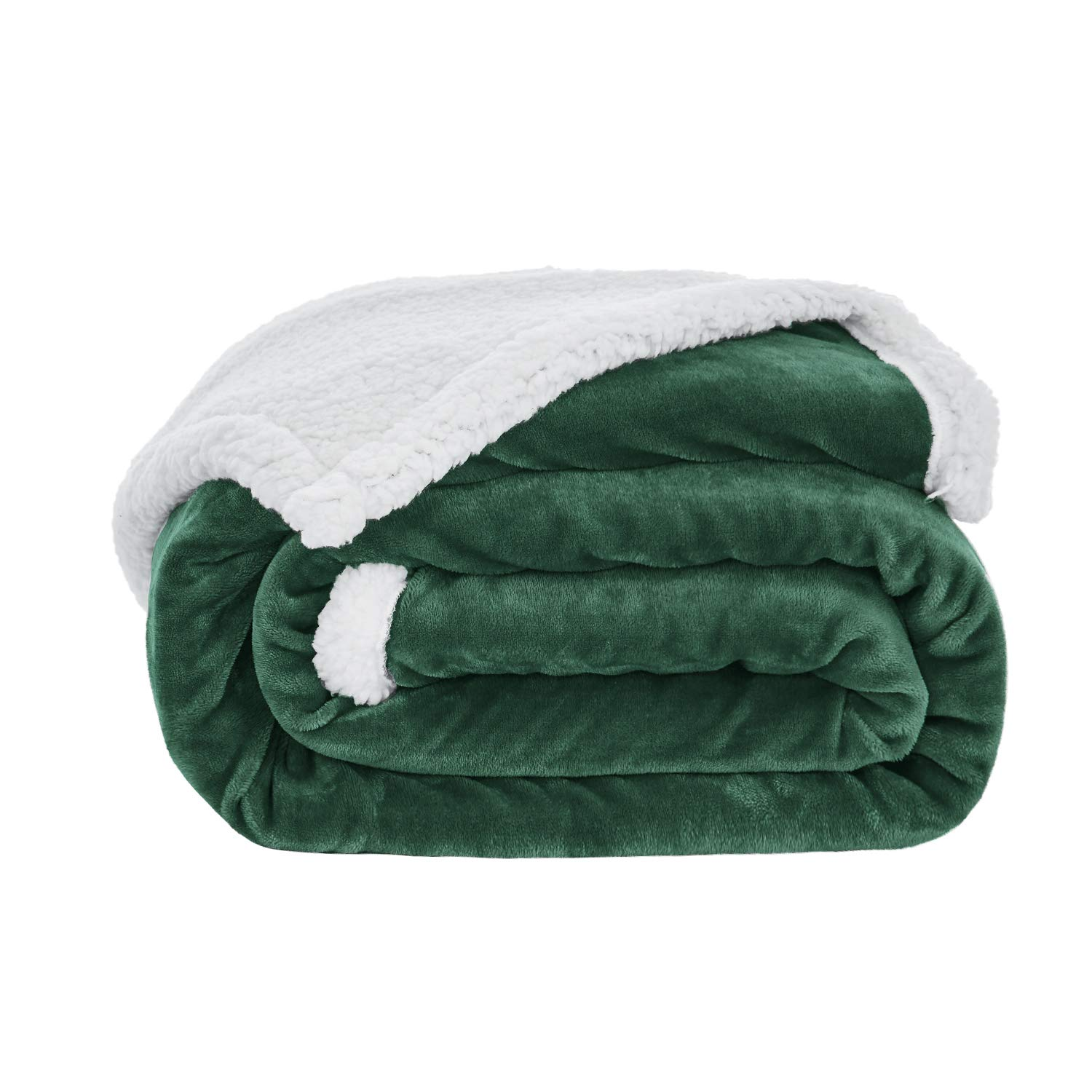 Love's cabin Sherpa Fleece Blanket Throw Size (Green 50x60 Inches) Fuzzy Plush Throw Blanket for Couch or Sofa   Reversible Warm Cozy Soft Blankets for Adults and Kids