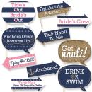 Big Dot of Happiness Funny Last Sail Before the Veil - Nautical Bridal Shower and Bachelorette Party Photo Booth Props Kit - 10 Piece