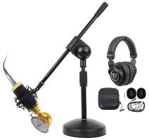Rockville PC Gaming Streaming Twitch Bundle: RCM02 Microphone+Headphones+Stand
