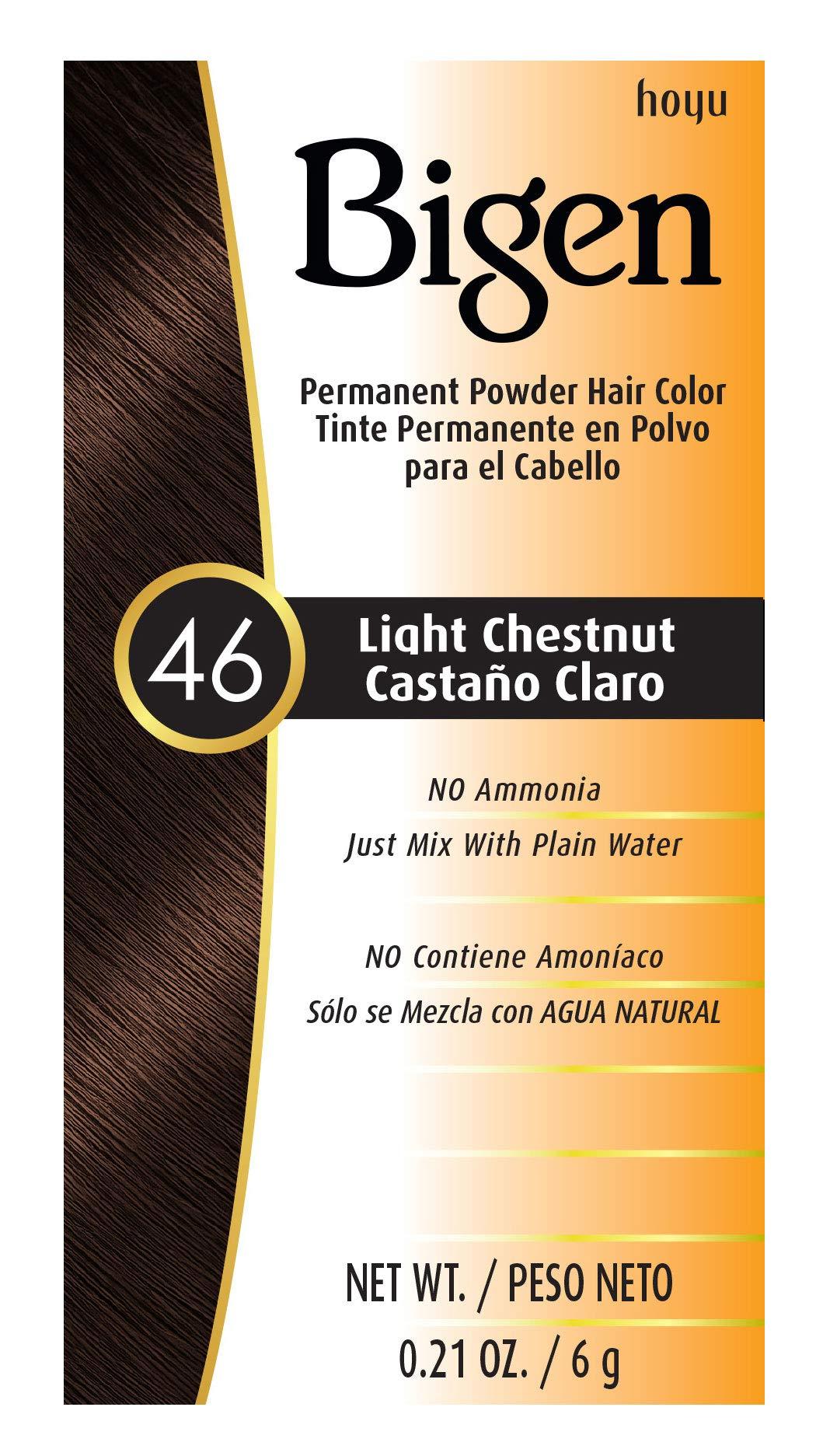 #46 Light Chestnut Bigen Permanent Powder - 6 Pack