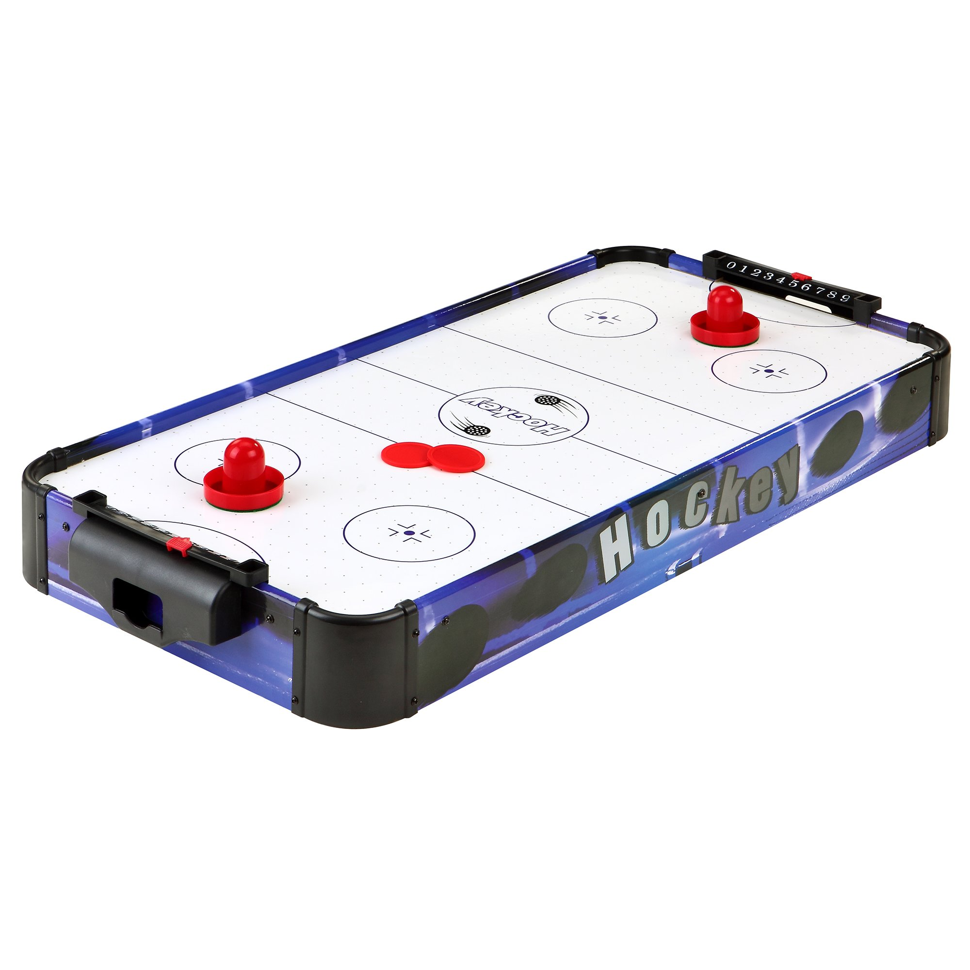 Blue Line 32-in Portable Table Top Air Hockey for Kids, Blue/White