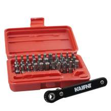 KAIFNT K402 Screwdriver Bit Set with Mini Ratchet Wrench, 1/4-Inch Drive, 34-Piece