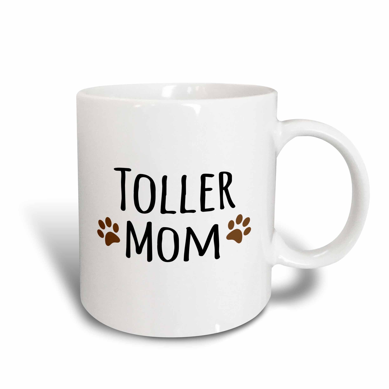 3dRose 154208_2 Toller Dog Mom Mug, 15 oz, Ceramic