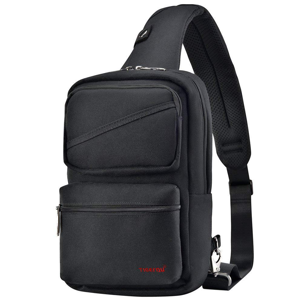 Small Sling Bag One Strap Crossbody Water Resistant Chest Bag Travel Bag for Men Women Boys 3.5L Fit for 9.7in Tablet