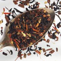 Deluxe Pumpkin Spice Tea - Loose Leaf Premium Tea with Caffeine(1 oz, 15-20 cups) - Made in the USA