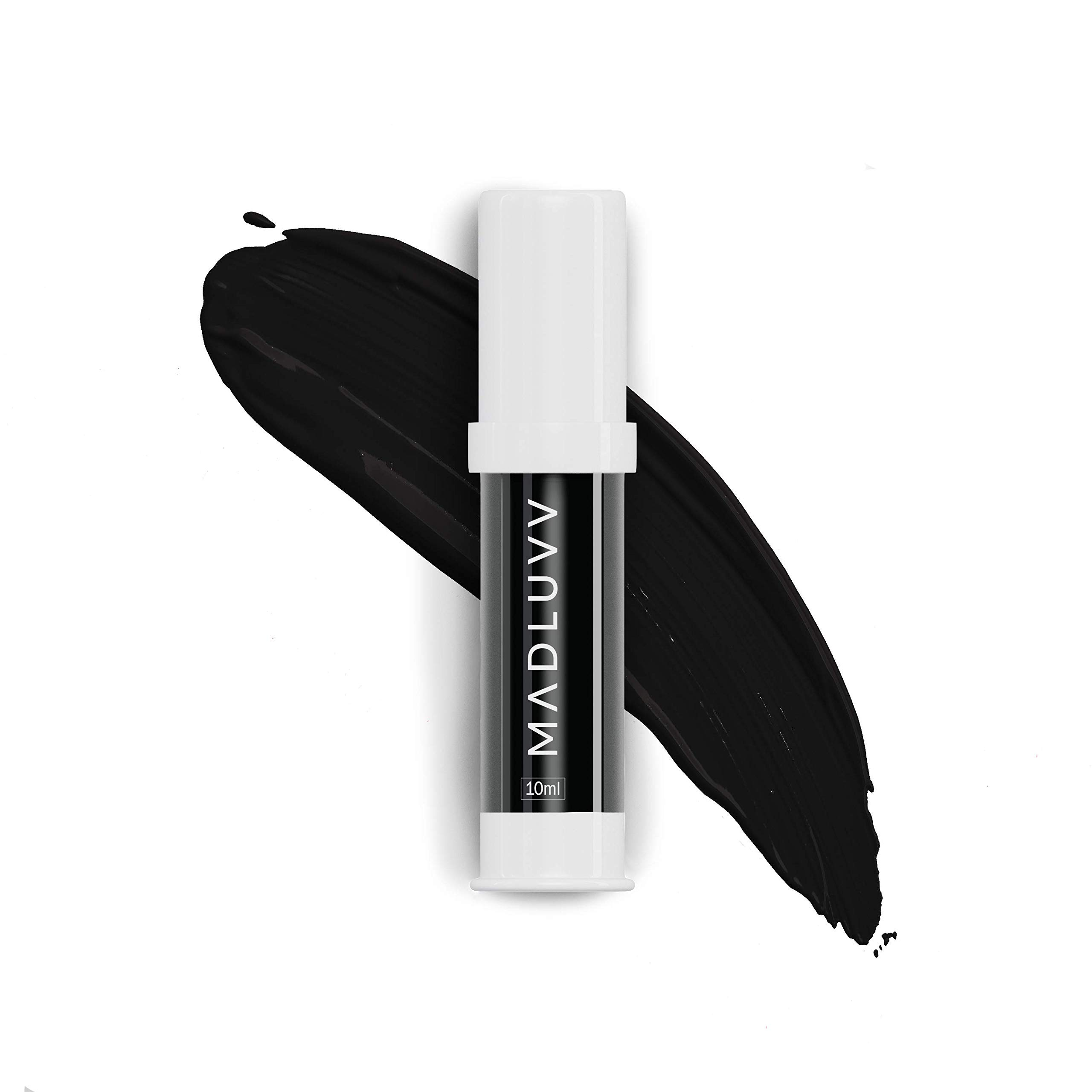 Madluvv Jet Black 115 - Best Microblading Pigment for Perfect Brows, Microblading Pen Supplies, Professional Medical-Grade Tattoo Ink, Works with Permanent Makeup Machine, 10 ml Bottle