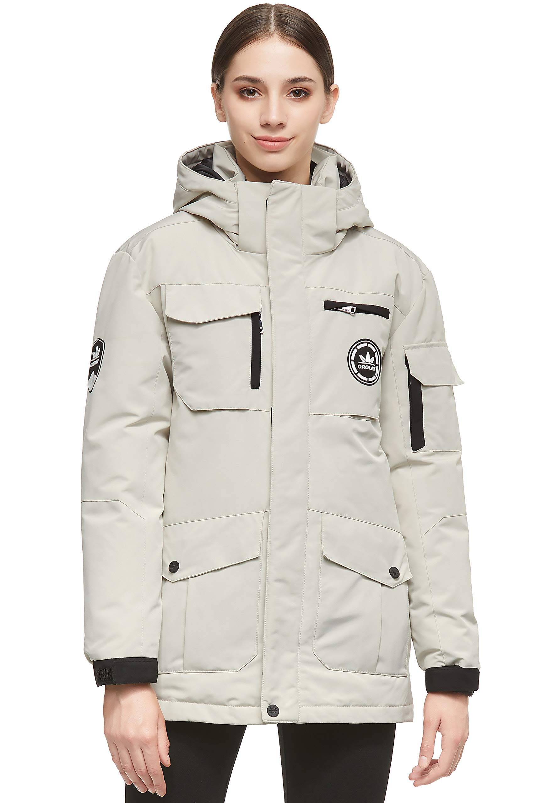 Orolay Women's Warm Parka Jacket Anorak Winter Coat with Multiple Pockets