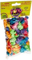 Darice Plastic Novelty Zoo Animal Shaped Beads, Multi Color (2-Pack)
